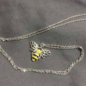 Handmade Bee Necklace 🐝